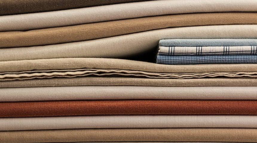 linen sheets folded